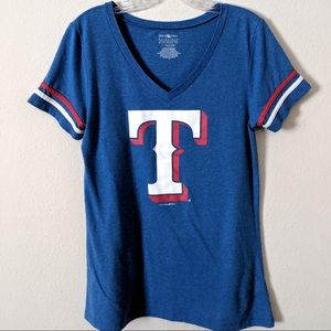 Texas Rangers V-neck Fitted Tee